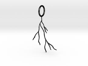 Tree Roots Pendant in Matte Black Steel