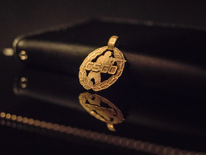 CS:GO Soldier Pendant in Polished Gold Steel