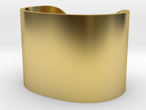 Cosplay Cuff (6.5cm x 4.5cm) Set 2 in Polished Brass: Large