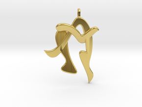 Human in Polished Brass