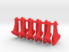 10 pcs. 24mm F2D Control Horn - v2.1 in Red Processed Versatile Plastic