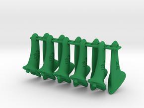 10 pcs. 28mm F2D Control Horn - v2.1 in Green Processed Versatile Plastic