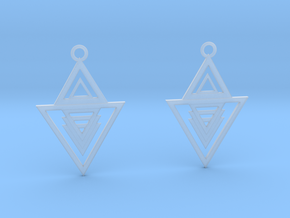 Geometrical earrings no.13 in Smooth Fine Detail Plastic: Small