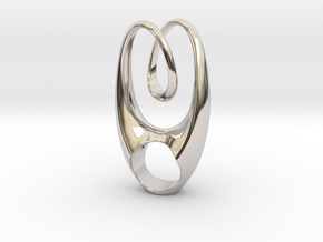 Double Love in Rhodium Plated Brass