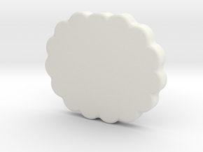 Cloud in White Natural Versatile Plastic