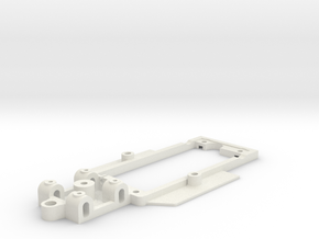 Chassis for Sclextric Tyrrell P34 (6 wheel) in White Natural Versatile Plastic
