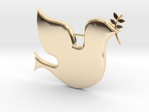 Peace Dove pendant in 14k Gold Plated Brass
