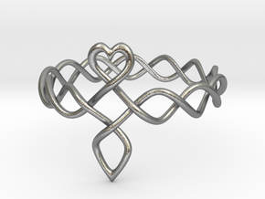 Celtic Love Ring in Natural Silver: 6.5 / 52.75