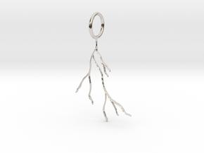 Tree Roots Pendant in Platinum