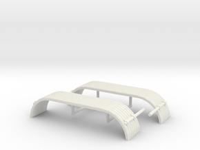 1/34th Tandem axle 'corrugated' style fender in White Natural Versatile Plastic