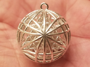 "Tantric Star of Awesomeness Pendant 1""  in Natural Silver"