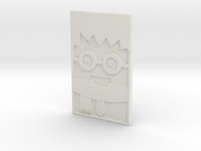 Harry 3D Portrait in White Natural Versatile Plastic