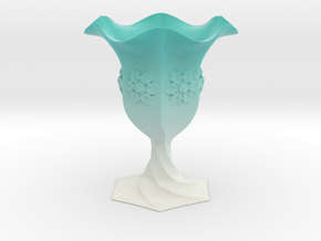 Cup Vase  in Matte Full Color Sandstone