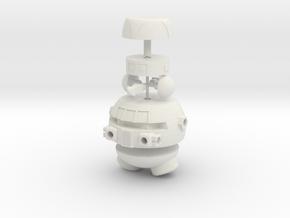 Vital Information Robot for Micronauts in White Natural Versatile Plastic