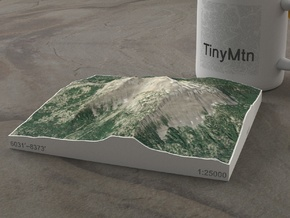 Mt. Bailey, Oregon, USA, 1:25000 in Natural Full Color Sandstone