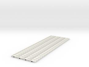 p-9stp-slim-flexi-tram-track-100-x96-1a in White Natural Versatile Plastic