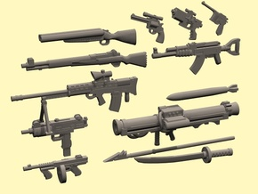28mm Wastefall weapons 2 in Smoothest Fine Detail Plastic