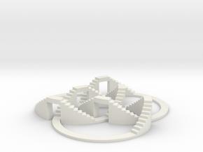 Walkable Borromean Rings in White Natural Versatile Plastic
