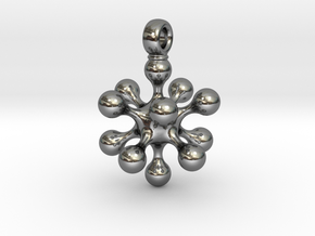 ICOSAHEDRON EQUILIBRIUM in Fine Detail Polished Silver