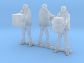 HO Scale Dock Workers in Smooth Fine Detail Plastic