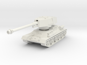 T34-100 tank scale 1/72 in White Natural Versatile Plastic