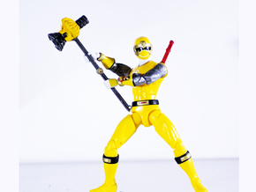 Ninjastorm Yellow Accessory - Power Rangers in White Natural Versatile Plastic