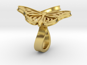 Butterflies in Love_M in Polished Brass