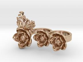 Preludio3_size S in 14k Rose Gold Plated Brass