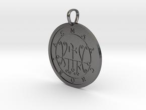 Marchosias Medallion in Polished Nickel Steel