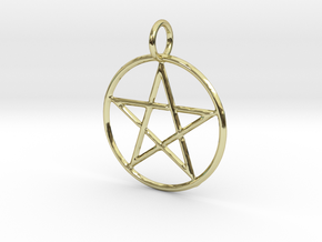 Creator Pendant in 18k Gold Plated Brass