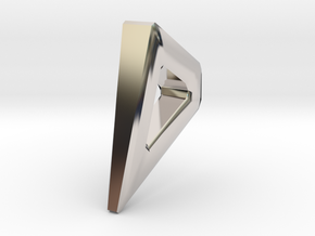 masterpiece of cake geometric pendant! in Rhodium Plated Brass: Medium