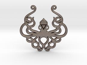 Mythological Elements - Kraken (Water) in Polished Bronzed-Silver Steel