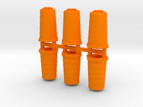Traffic Barrels/Drums in Orange Processed Versatile Plastic: 1:144