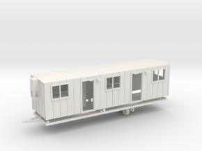 Construction Trailer Double Door 1-64 Scale in White Natural Versatile Plastic