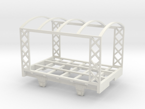On30 Open Air Rail Car in White Natural Versatile Plastic