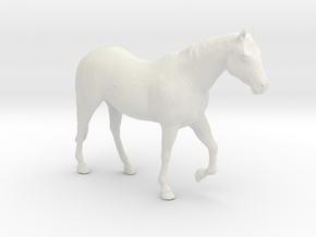 O Scale Walking Horse in White Natural Versatile Plastic