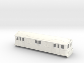 Swedish SJ electric locomotive type D - H0-scale in White Processed Versatile Plastic