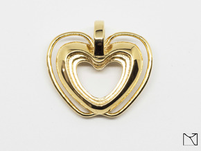 Heart Pendant in 18k Gold Plated Brass