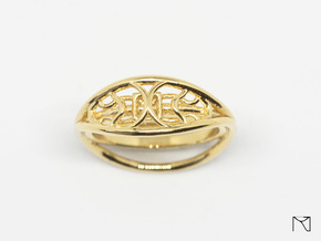 Ring two-sided in 18k Gold Plated Brass: 7 / 54