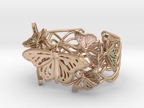 Butterflies in Love_ Bracelet_ S in 14k Rose Gold Plated Brass