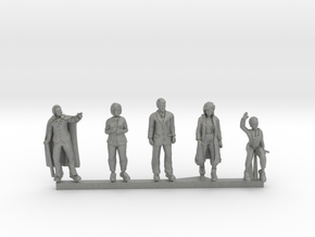 HO/OO Scale People Set 1 in Gray Professional Plastic