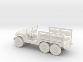 1/87 Scale 6x6 Jeep MT Troop in White Natural Versatile Plastic