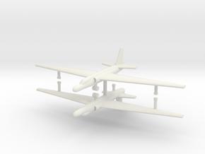 1/500 U-2A Reconnaissance Aircraft (x2) in White Natural Versatile Plastic