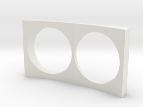 HO Scale EMD E unit HEP box middle in White Natural Versatile Plastic