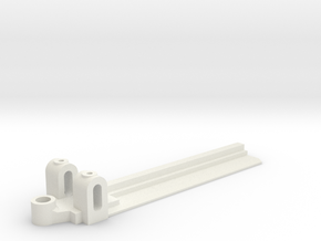 20mm Wide, 75mm long Front End, extended guide in White Natural Versatile Plastic