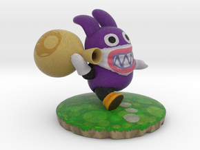 Nabbit from New Super Mario Bros U in Natural Full Color Sandstone: Medium