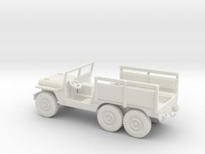 1/72 Scale 6x6 Jeep MT Ambulance in White Natural Versatile Plastic