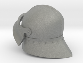 Medieval Sallet compatible with playmobil figure in Gray Professional Plastic
