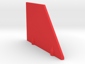 Prism P7 - Left Dock Wall (Bottom Half) (PART) in Red Processed Versatile Plastic