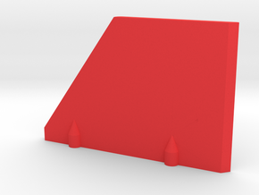 Prism P7 - Right Dock Wall (Bottom Half) (PART) in Red Processed Versatile Plastic